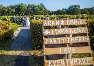 Pallet wedding sign