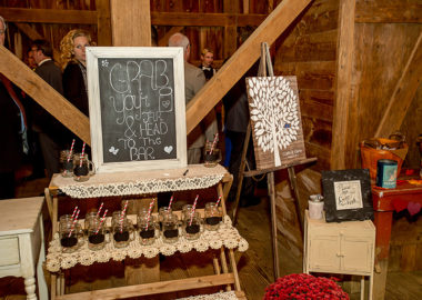 Beverages at Rustic Wedding in Farm