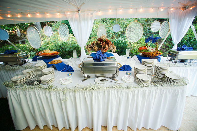 Buffet Under Sail Tent Rental