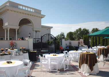 Outdoor Patio at Jacques Reception Center