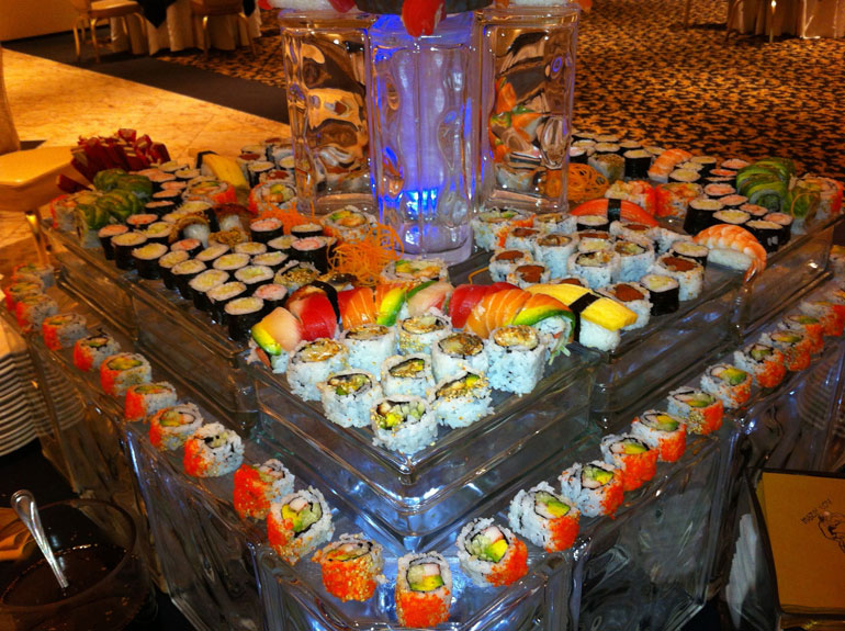 Custom Wedding Menus Feature Sushi Options